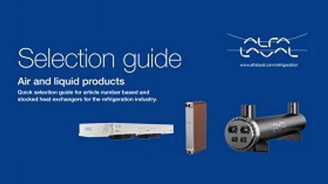 Air and liquid products selection guide